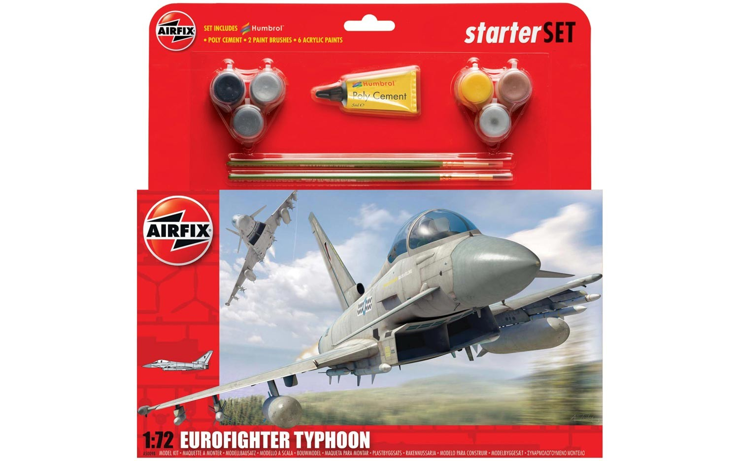 Airfix Eurofighter Typhoon Starter Set 1:72nd Scale.