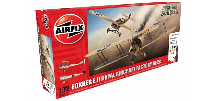 Airfix Fokker E.II/BE2C Dogfight Doubles Gift Set 1:72