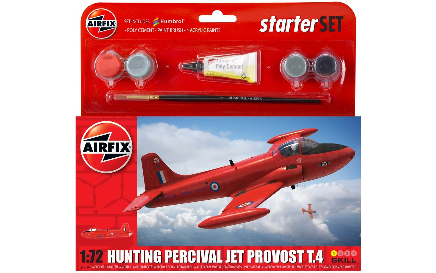 Airfix Hunting Percival Jet Provost T3 Starter Set 1:72nd scale