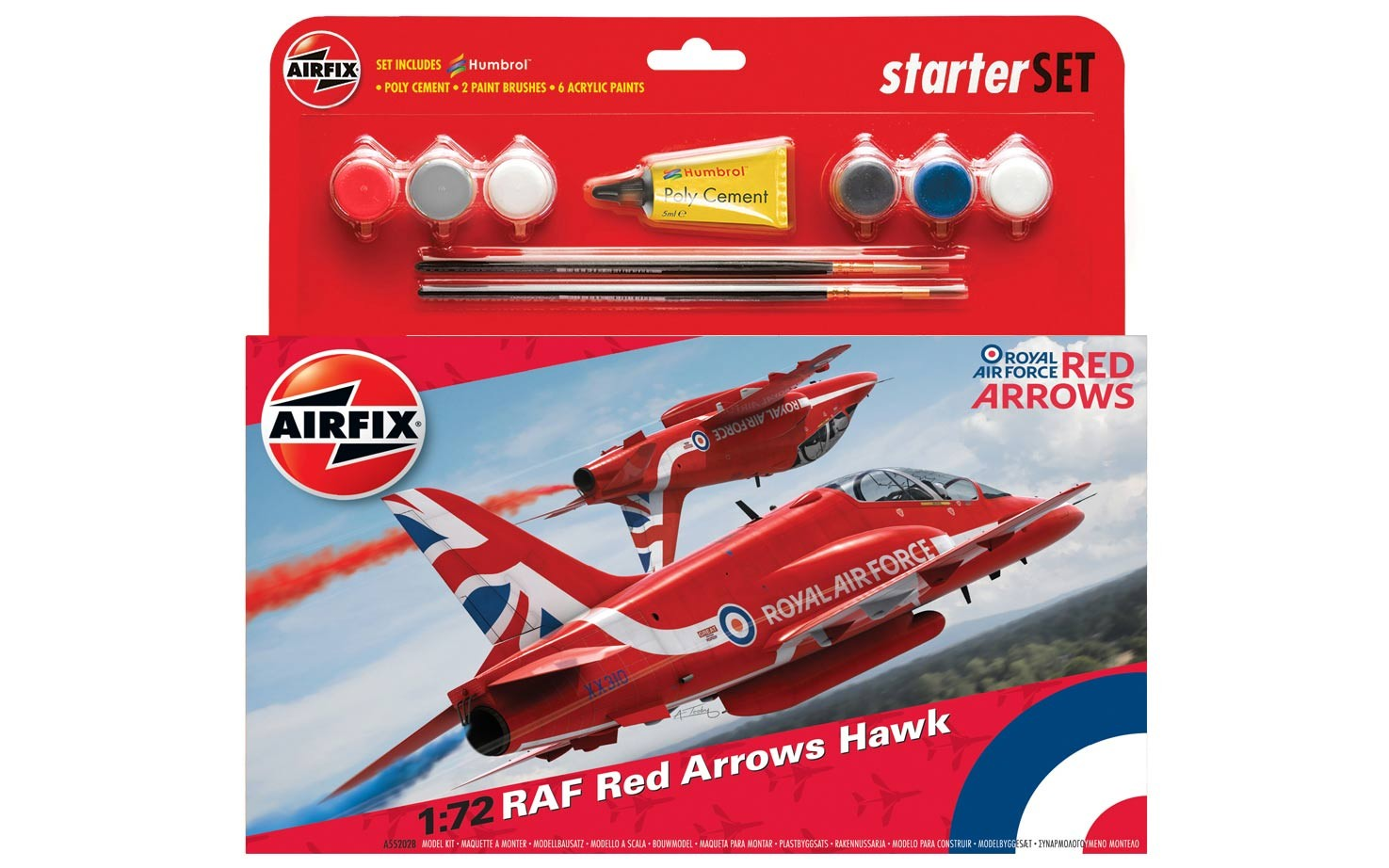 Airfix RAF Red Arrows Hawk 2015 Starter Set 1:72