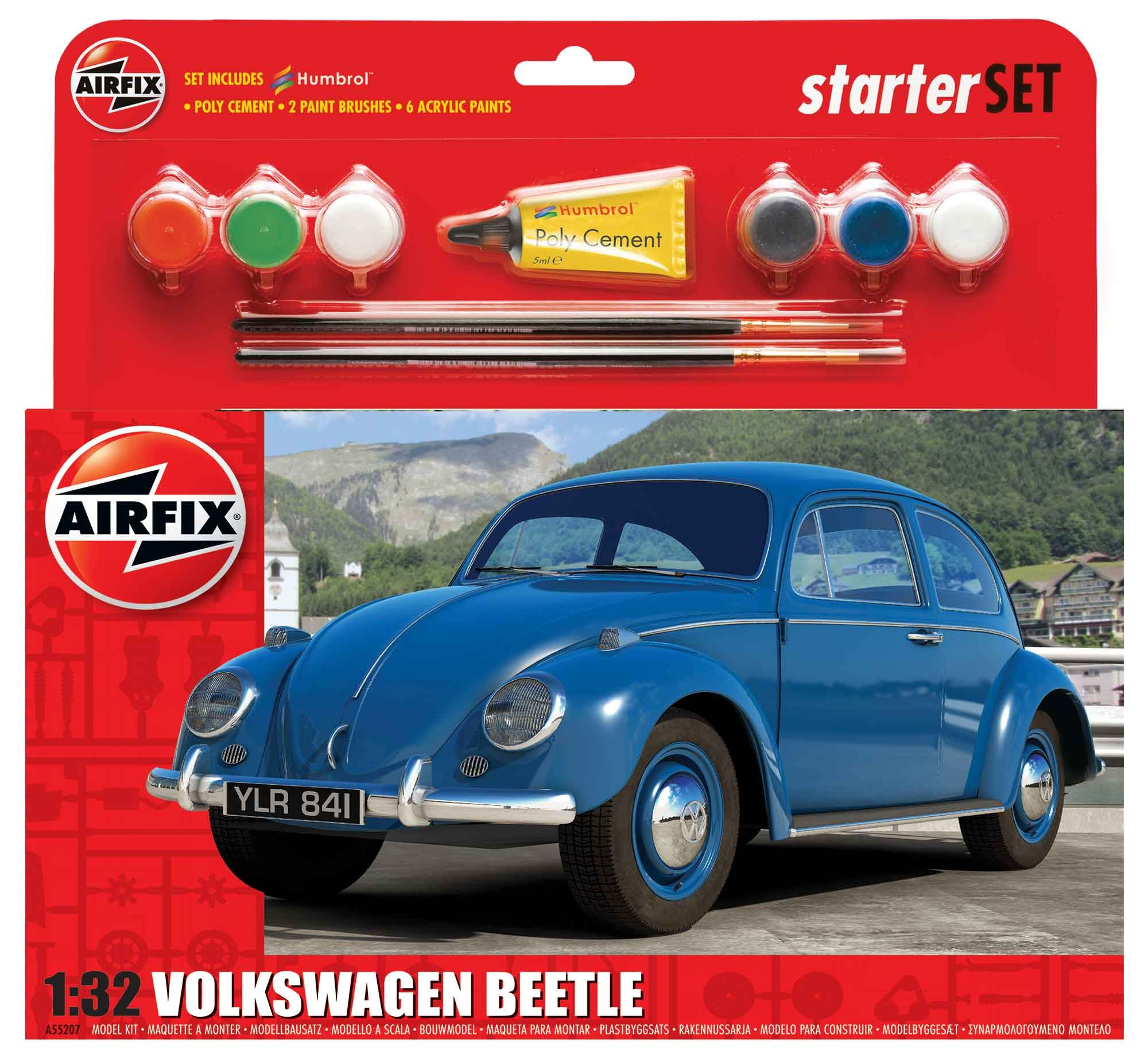 Airfix Volkswagen Beetle Gift Set 1:32nd Scale.