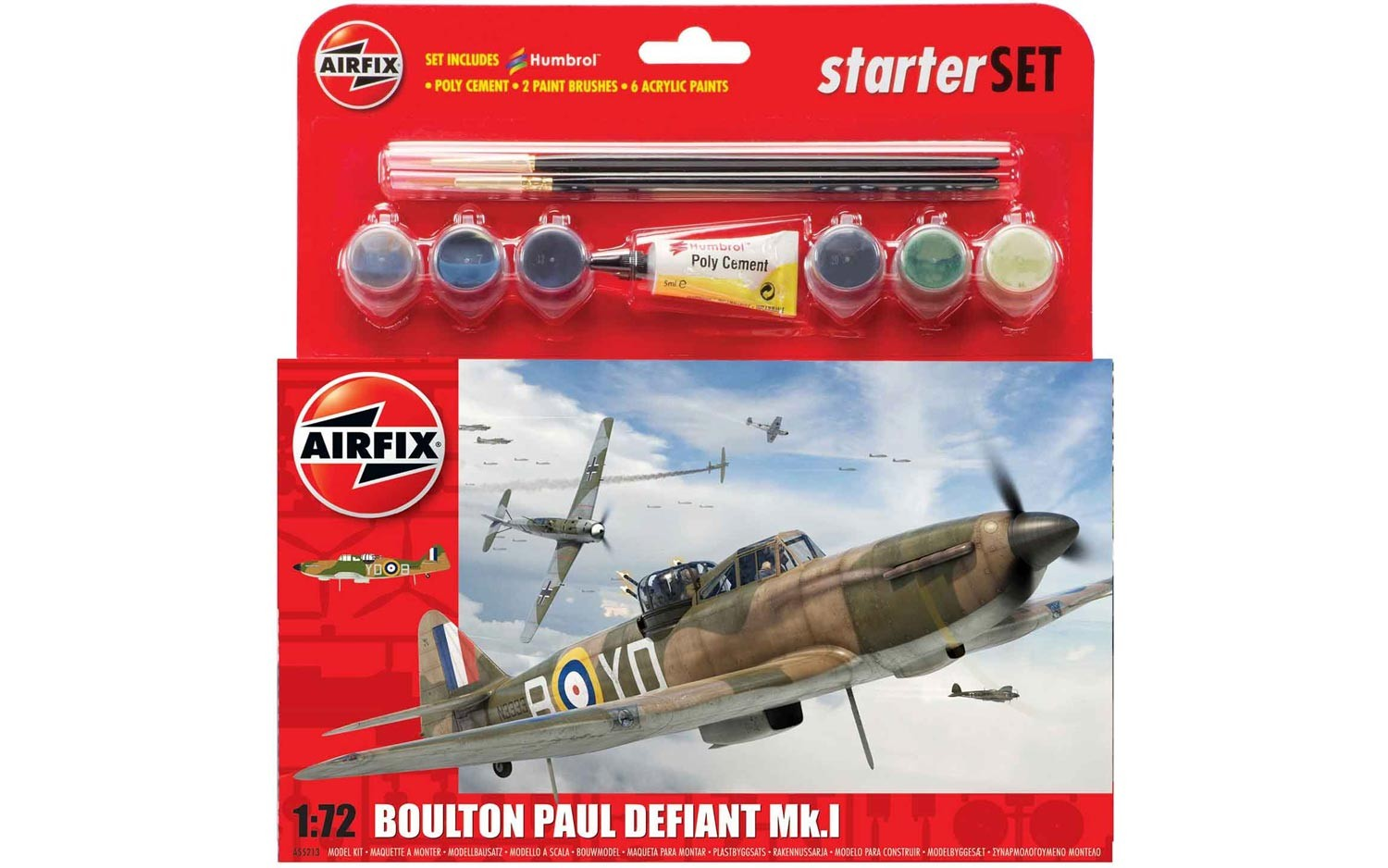 Airfix Boulton Paul Defiant Mk.1 Starter Set 1:72nd Scale.