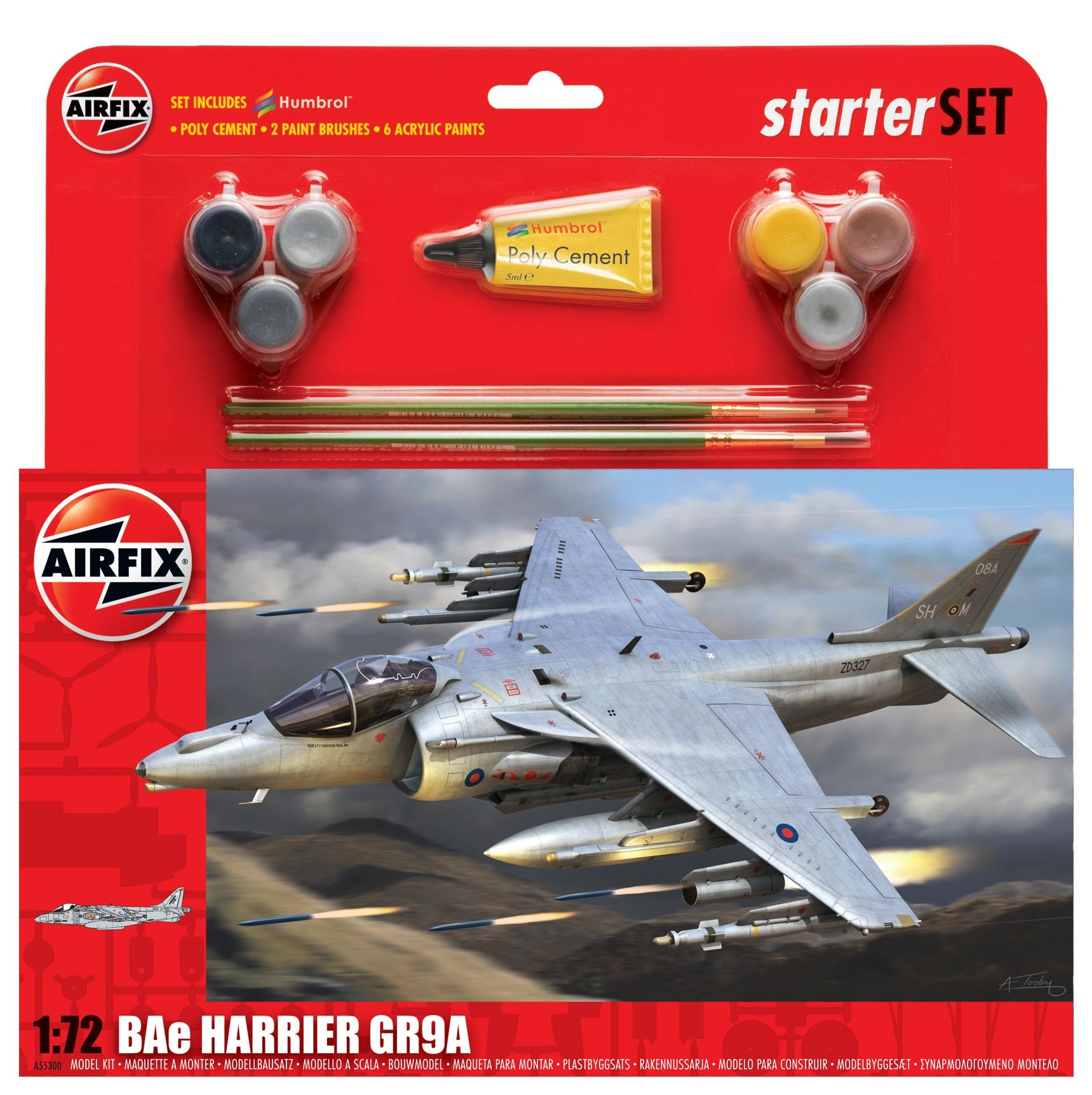 Airfix BAe Harrier GR9A Starter Set 1:72nd Scale.