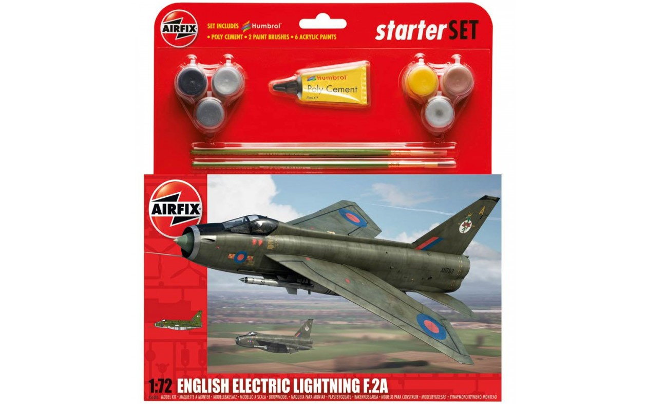 Airfix English Electric Lightning F2A Starter Set 1:72nd Scale.