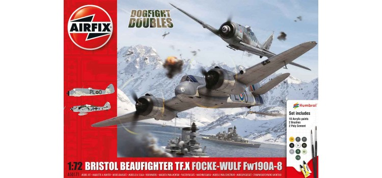 Airfix Bristol Beaufighter Mk.X Focke-Wulf Fw190 - 8 Dogfight Doubles Gift Set 1:72