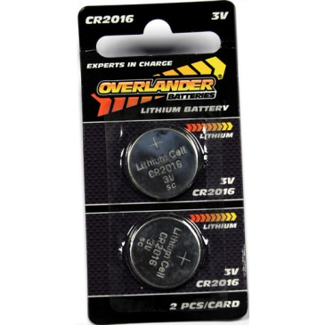 Lithium CR2016 Coin Cell (Button Cell) 3V