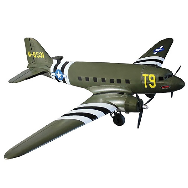 DYNAM C47 DAKOTA TWIN USAF V2 1470MM ARF