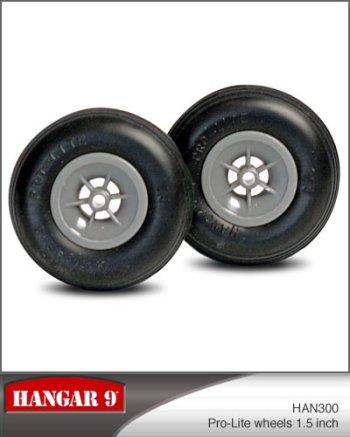 1-1/2 Inch Hangar 9 Pro-Lite Wheels Pair