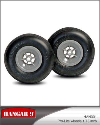 1-3/4 Inch Hangar 9 Pro-Lite Wheels Pair