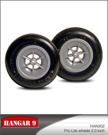 2 Inch Hangar 9 Pro-Lite Wheels Pair