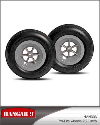 2-1/4 Inch Hangar 9 Pro-Lite Wheels Pair