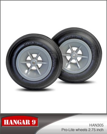 2-3/4 Inch Hangar 9 Pro-Lite Wheels Pair