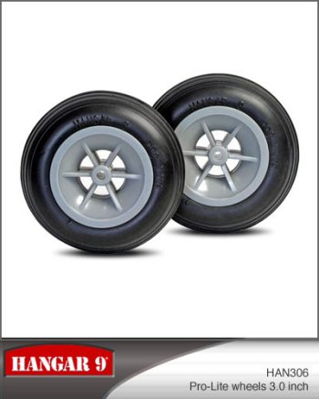 3 Inch Hangar 9 Pro-Lite Wheels Pair