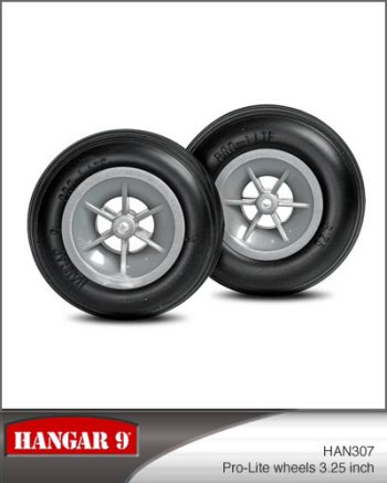 3-1/4 Inch Hangar 9 Pro-Lite Wheels Pair