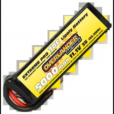 5000mAh 3S 11.1v 70C LiPo Battery - Overlander Extreme Pro