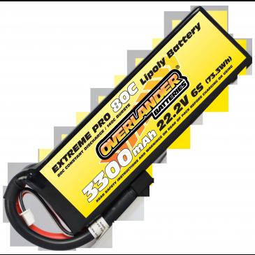 3300mAh 6S 22.2v 80C LiPo Battery Extreme Pro