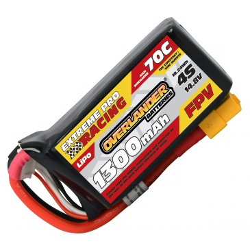 1300mAh 4S 14.8v 70C with XT60 Connector