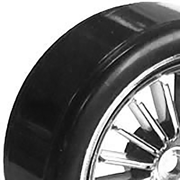 FASTRAX 1/10TH STREET WHEEL / DRIFT TYRES 20-SPOKE CHROME