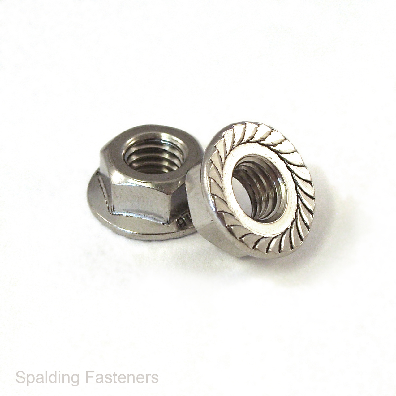 M4 X 0.7 A2 Stainless Flange Full Nuts