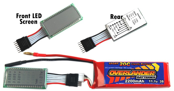 Lipo Battery Voltage Checker Overlander