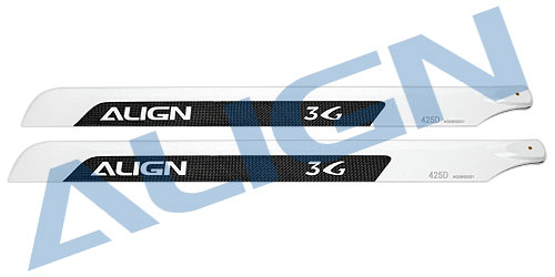 425D 3G Carbon Fiber Main Blades (425mm)