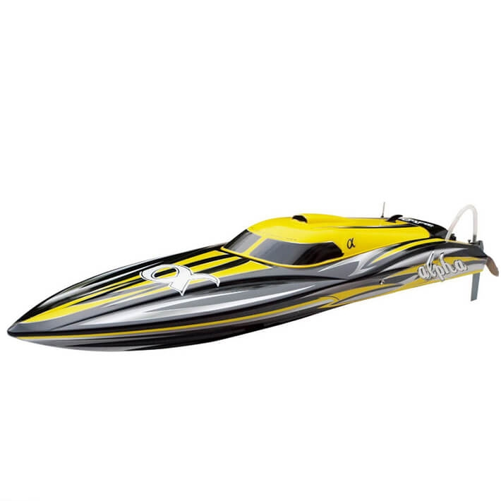 JOYSWAY ALPHA BRUSHLESS YELLOW ARTR RACING BOAT W/OBATT/CHRGR