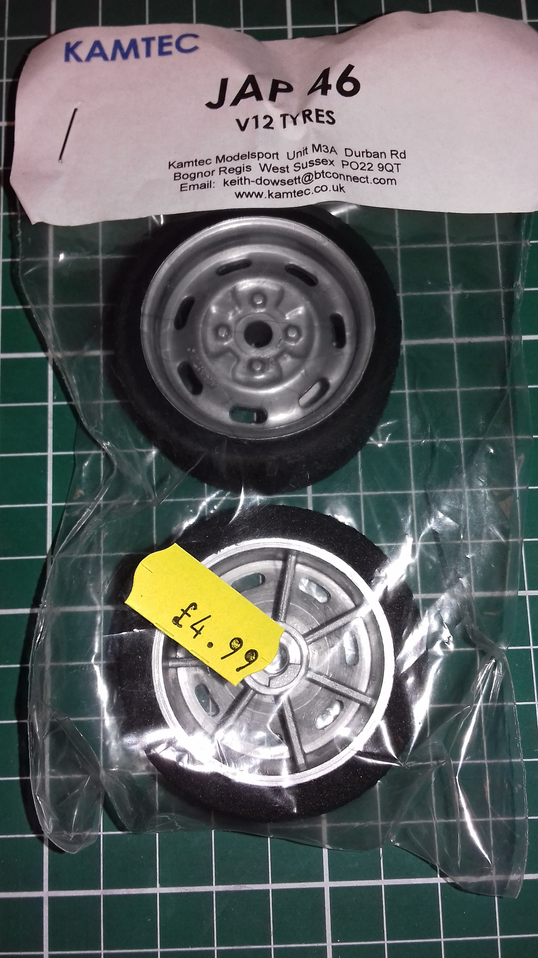 Kamtec Silver Steel Wheels Tyres Trued & Glued Jap 46