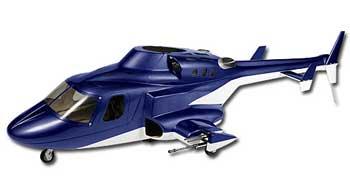 500 Scale Fuselage Airwolf (Blue)