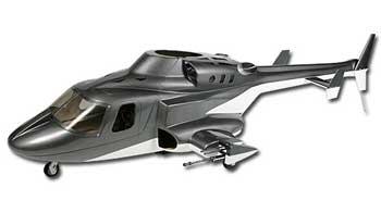 Airwolf 500 Scale Fuselage (Grey)
