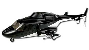 Airwolf 500 Scale Fuselage (Black)