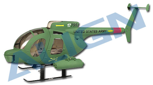 Hughes 500D 450 Scale Fuselage (Military)