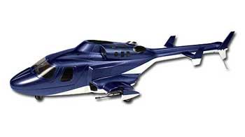 Airwolf 450 Scale Fuselage (Blue)