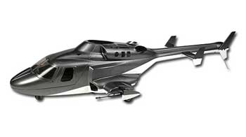 Airwolf 450 Scale Fuselage (Grey)
