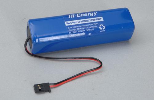 Hi-Energy 9.6V 2200mAh Ni-MH Tx Pk Square x Pk Flat