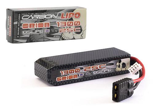 Carbon Lipo 1300mAh 11.1V 25c (TRX Plug)