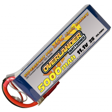 5000mAh 2S 7.4v 35C LiPo Battery Supersport Pro