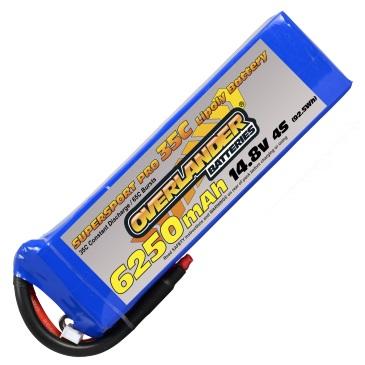 6250mAh 4S 14.8V 30C LiPo Battery