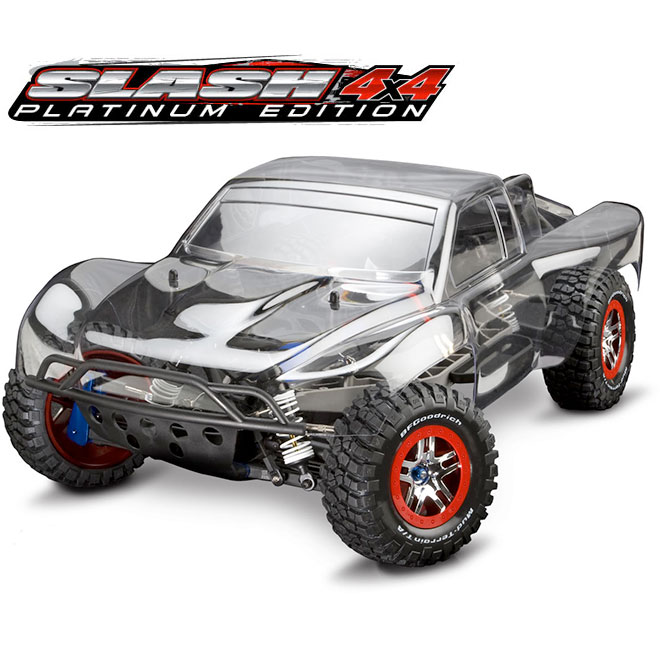 Traxxas Slash Platinum VXL Brushless 4WD (LCG Chassis/No Radio,Batt)