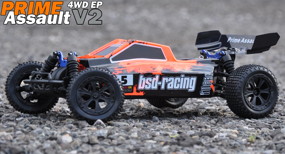 BSD Racing PRIME ASSAULT V2 BUGGY 4WD 1/10TH 7.2V NI-MH