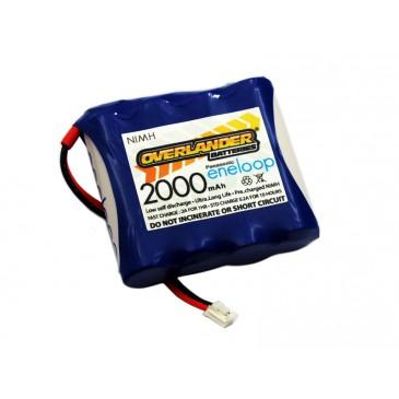 Panasonic Eneloop 2000mAh AA 4.8v Transmitter TX Flat Spektrum DX8