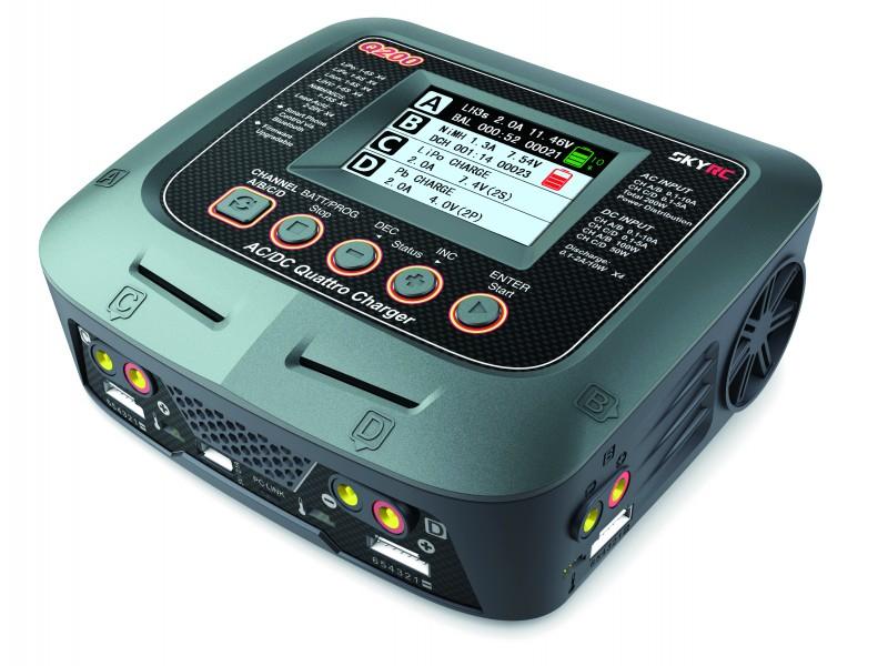 SKYRC Q200 200watt 10A AC/DC Quad Charger