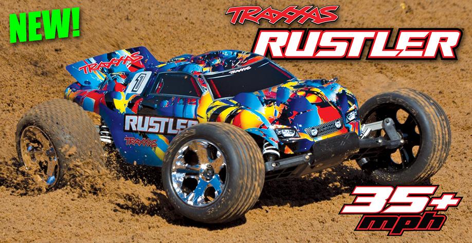 Traxxas Rustler XL-5 2WD (TQ/No Batt or Chg) Rock N Roll Paint