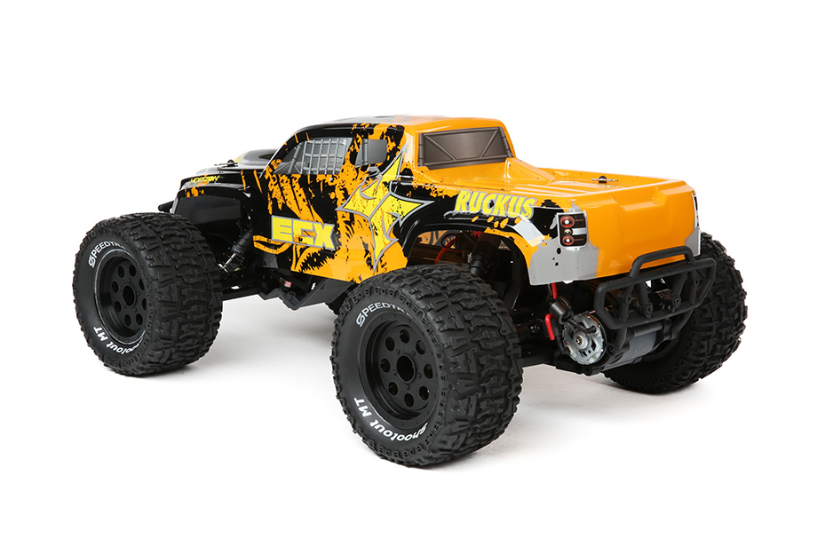 1/10 2WD RUCKUS MT BD LIPO: BLACK/ORANGE RTR INT