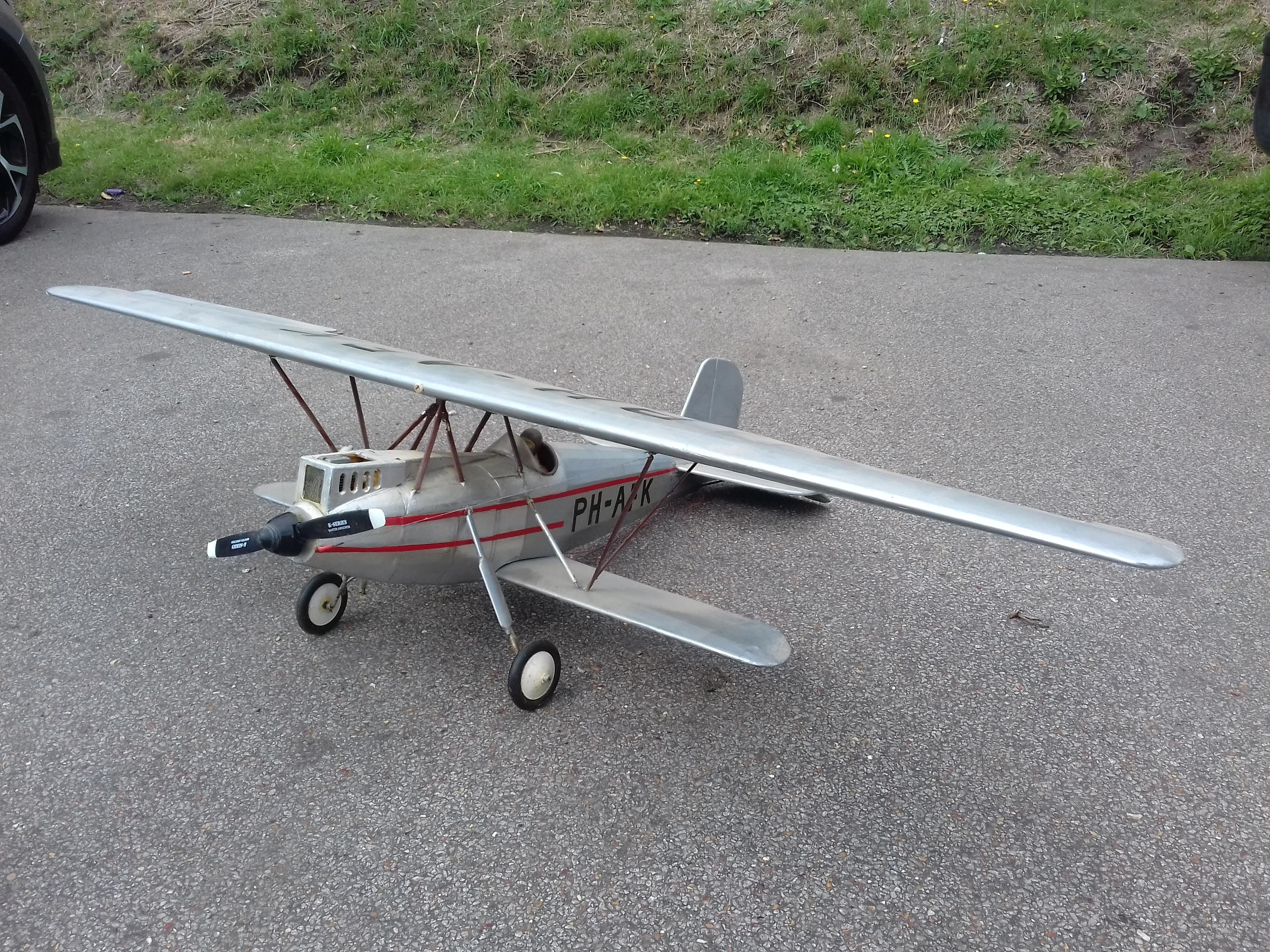 Silver Biplane