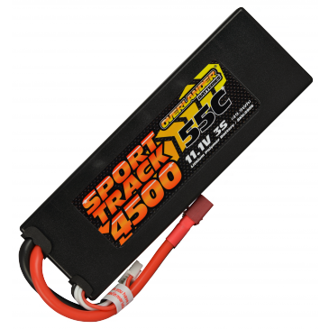 4500mAh 3S 11.1v 55C LiPo Battery in Hard Case Sport Track