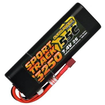 3250mAh 2S 7.4v 55C LiPo Battery in Hard Case