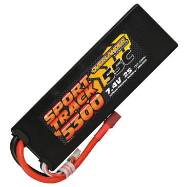 5300mAh 2S 7.4v 55C LiPo Battery in Hard Case