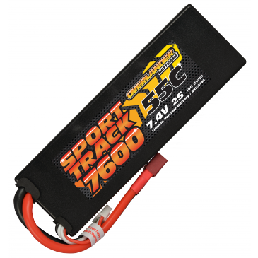 7600mAh 2S 7.4v 55C LiPo Battery in Hard Case