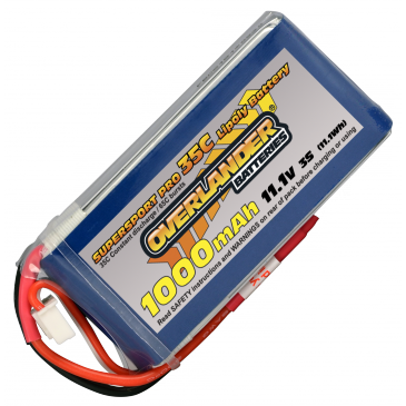 1000mAh 11.1V 3S SuperSport Lipo (30C)