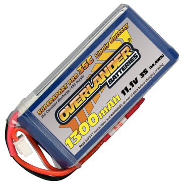 1300mAh 3S 11.1v 35C LiPo Battery Supersport Pro